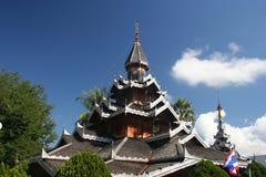 Wat Hua Wiang, Mae Hong Son, Thailand stock afbeelding