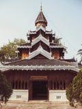 Wat Hua Wiang tempel, Mae Hong Son, Thailand royaltyfri fotografi