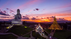 Wat Huai Pla Kung.A beautiful public temple.It is popular with b royalty free stock photos