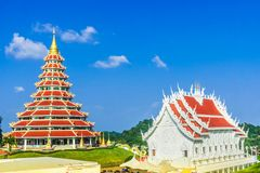 Wat Huai Pla Kung Temple by Chaing Rai in Thailand. View on Wat Huai Pla Kung Temple by Chaing Rai in Thailand Stock Photography