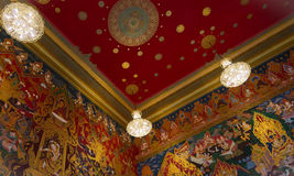 Wat Hualamphong Buddhism Temple Interior Stock Images