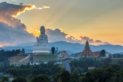 Wat Huay Pla Kang, Chinese temple in Chiang Rai Province. Beautiful design of temple in northern of Thailand Stock Photo