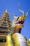 Wat Huay Plakang 9 Tier Temple Royalty Free Stock Image
