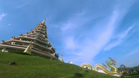 Wat Huay Plakang 9 Tier Temple ,Time-lapse. stock footage