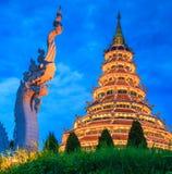 Wat Hyua Pla Kang, Thailand. Wat Hyua Pla Kang in Chinese style, Chiangrai province of Thailand Stock Photo