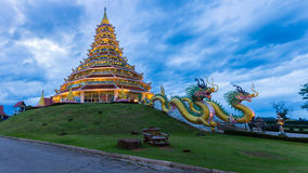 Wat Hyua Pla Kang, Chinese temple in Chiang Rai Thailand. This is the most popular and famous temple in Chiang Rai Stock Photography