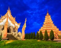 Wat Hyua Pla Kang in Thailand. Wat Hyua Pla Kang was built in the Chinese style in Chiangrai province of Thailand Stock Images