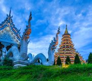 Wat Hyua Pla Kang in Thailand. Wat Hyua Pla Kang was built in the Chinese style in Chiangrai province of Thailand Royalty Free Stock Photography
