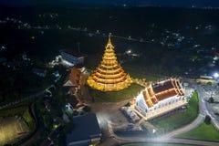Wat Hyuaplakang in Chiang Rai Fotografia Stock Libera da Diritti