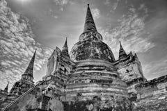 Wat i Ayutthaya Thailand asia fotografering för bildbyråer