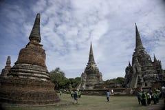 Wat i Ayutthaya Thailand asia arkivfoton