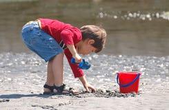 Wat ik in het Zand zal vinden? Stock Afbeeldingen