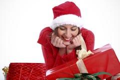 Wat ik voor Kerstmis heb gekregen? Stock Afbeelding