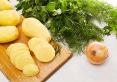Wat ingridients og voedsel Stock Foto's