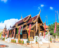 Wat Inthakhin Saduemuang在泰国 免版税库存照片