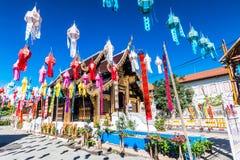 Wat Inthakhin Saduemuang, Tailandia Immagine Stock