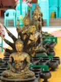 Wat Intharavihan. Several Buddhas at Wat Intharavihan Stock Photography