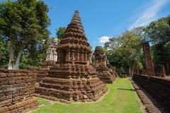 Wat Jedi Jed Teaw tempel i det Sukhothai landskapet, Thailand royaltyfri foto