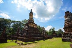 Wat Jedi Jed Teaw tempel i det Sukhothai landskapet, Thailand royaltyfria bilder