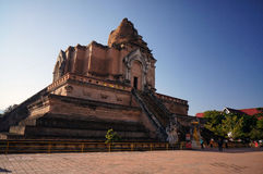 Wat Jedi Luang Chiangmai Thailand Arkivbilder