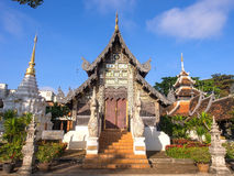 Wat Jedi Luang is one of the most attractive in Chiangmai Royalty Free Stock Image
