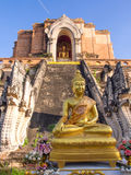 Wat Jedi Luang is one of the most attractive in Chiangmai Royalty Free Stock Images