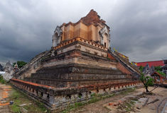 WAT JEDI LUANG TEMPLE Chiang Mai. Thailand's major tourist attractions Stock Photos