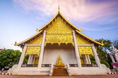 Wat Jediluang,清迈,泰国 免版税库存照片