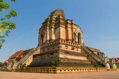 Wat jediluang temple chiangmai thailand Stock Photography