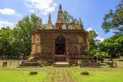 Wat Jet Yod Chiang Mai, Thailand Royaltyfri Foto