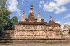 Wat Jet Yod Chiang Mai, Thailand Arkivbilder