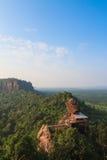 Wat Jetiyakiree Viharn on Phu tok mountain Royalty Free Stock Image