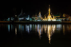 Wat Jong Kham and Wat Jong Klang temples Royalty Free Stock Images