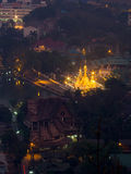 Wat Jong Klang from bird eye view, during dark night period, pre Stock Image