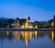 Wat Jong Klang in the dawn Stock Photo