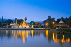 Wat Jong Klang in the dawn Royalty Free Stock Image