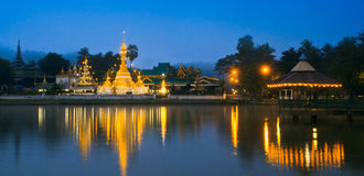 Wat Jong Klang in the dawn Stock Images