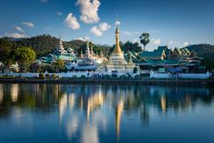 Wat Jong Klang i Wat Jong Kham zdjęcie royalty free