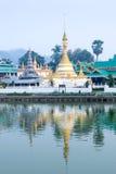 Wat Jong Klang is landmark of Maehongson Stock Image