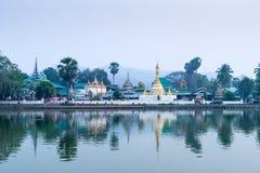 Wat Jong Klang is landmark of Maehongson Stock Images