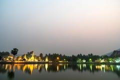 Wat Jong Klang is landmark of Maehongson Royalty Free Stock Images