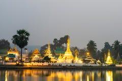 Wat Jong Klang is landmark of Maehongson Royalty Free Stock Photo