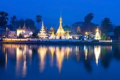Wat Jong Klang is landmark of Maehongson Royalty Free Stock Image