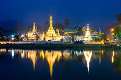 Wat Jong Klang is landmark of Maehongson Royalty Free Stock Photography