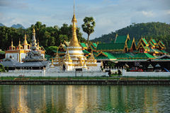 Wat Jong Klang in Maehongson Royalty Free Stock Images