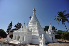 Wat Jong Klang temple in Mae Hong Son City. Northern Thailand Royalty Free Stock Photography
