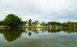 Wat Jongklang, Wat Jongkham - najwi?cej ulubionego miejsca dla turysty w Mae Hong synu zdjęcie stock