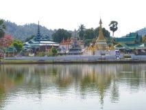 Wat Jongklang och Wat Jongkham Royaltyfri Fotografi