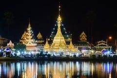 Wat Jongklang - Wat Jongkham der Lieblingsplatz für touris stockfoto
