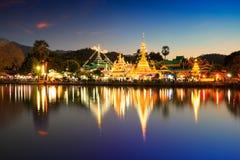 Wat Jongklang - Wat Jongkham l'endroit le plus préféré pour des touris photo stock